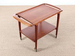 danish teak trolley coffee table designed by niels o møller for