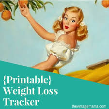 Weight Loss And Inches Tracker Free Weight Loss Tracker Printable The Vintage Mama