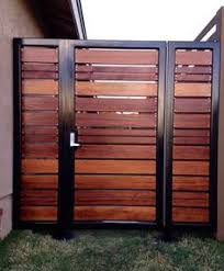 horizontal wood and metal fence. Unique And Modern Horizontal Style Entry Gate Ipelove To Horizontal Wood And Metal Fence A