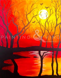 y trees by devon browning for painting vino