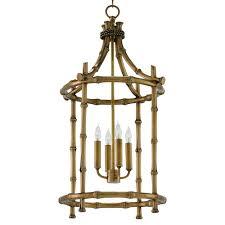 noriko global bazaar burnished gold bamboo lantern 美国kathy kuo home 价格 图片 掌案