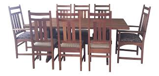Stickley Mission Cherry Dining Table 8 Chairs Chairish