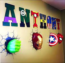 superhero room decor super hero bedroom