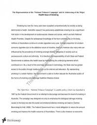 hsbh health determinants and interventions thinkswap national tobacco campaign essay