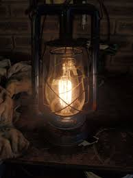 picture of electrifying an antique oil or kerosene lamp