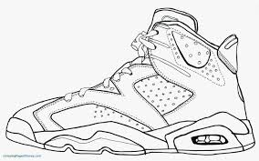 Lovely Of Jordan Sneakers Coloring Pages Photos Printable Coloring