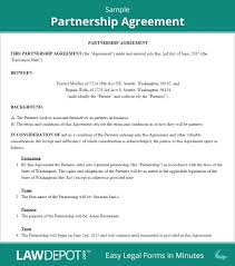 Sample Business Contract Template Partnership Agreement Form Partnership Agreement Template Us With 21