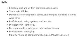 what type of skills to put on a resumes librarian resume examples of skills put on a expert imagine
