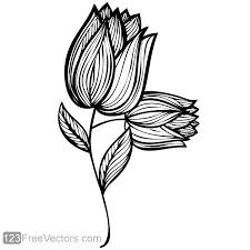 Small Picture Hand Drawn Rose Flower Design 123Freevectors
