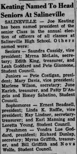 SHS Class Officers - Newspapers.com
