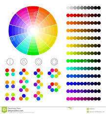 Harmony In Design Color Wheel With Shade Of Colors Color Harmony Stock Vector