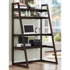 leaning shelf desk pertaining to leaning wall desk with shelves