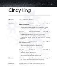 modern day resume format