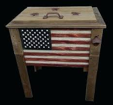 wooden deck cooler rustic wooden flag quart deck cooler wood patio pool party outdoor patriotic wood