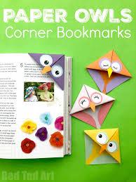 Design Bookmarks Easy Owl Origami Bookmark Design Red Ted Art