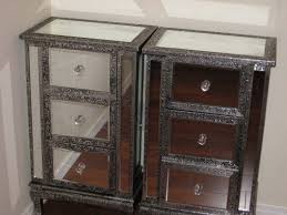 mirrored nightstand amelie wood and cheap nightstands glass hall chest chests tall bedside tables nightst decorating mirror furniture home goods silver small night