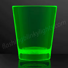 neon green party shot cups uv reactive