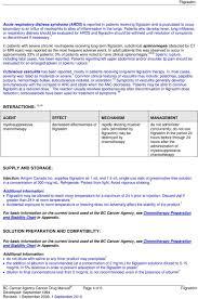 Bc Cancer Agency Chemotherapy Preparation And Stability Chart Drug Name Filgrastim Pdf