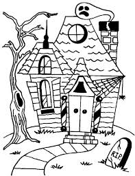 Small Picture Creepy Haunted Houses Coloring Page Creepy Haunted Houses Coloring