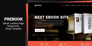 Muse Website Templates New Prebook Ebook Landing Page Responsive Adobe Muse Template R 48