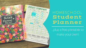 Homeschool Student Planner Plus Free Printable Day2day Joys