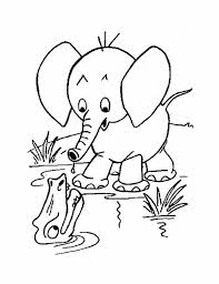 Small Picture Cute Baby Elephant Coloring Pages Barriee