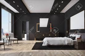 Weißes Schlafzimmer Interieur Mit Einem Großen Bett Mit Einer Weißen