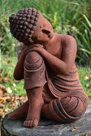 thinking buddha statue garden ornament