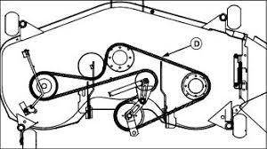 service mower replacing mower deck secondary belt