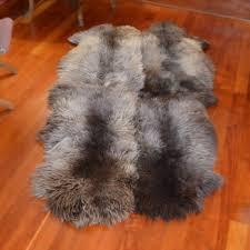 rare breed dutch sheepskin area rug throw