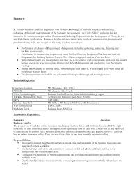 business systems analyst resume system analyst resume junior business analyst resume junior business
