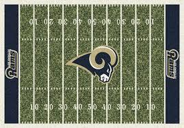 awesome football field area rug angeles rams home field area rug nfl football logo