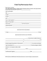 35 Editable Permission Slip Templates Education Pinterest
