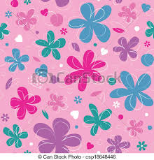 Pictures Of Hearts And Flowers Colorful Hearts And Flowers Pattern
