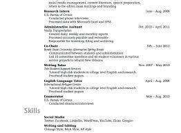 Sample Of High School Student Resume College High School Senior