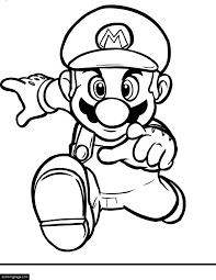 Small Picture Mario Bros Mario Running Coloring Page Printable eColoringPage