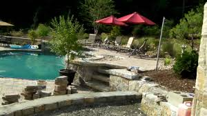 Pizza Oven Outdoor Kitchen Custom Stone Pool And Outdoor Kitchen With Pizza Oven In