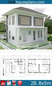 Small Home design Plan 8x5m with 2 bedrooms s3 | Small house design,  Architectural design house plans, Home design plan