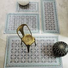 moroccan tile mats from graham and green