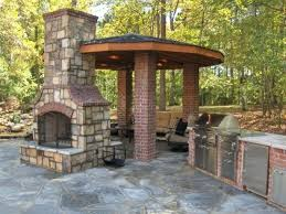 diy outdoor fireplace plans brick decor ideas throughout creative free ap
