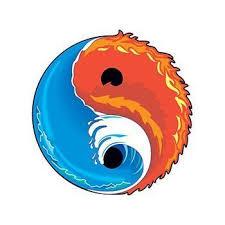 Yin Yang Barevný Symbol Jin Jang