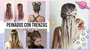 Peinados Con Trenzas Faciles Para Cabello Largo Tumblr 2017 Youtube