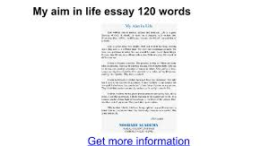 my aim in life essay words google docs