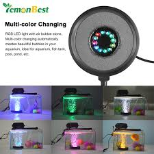 online get cheap submersible pond lights aliexpress com alibaba Rbg Wiring Multiple Lights Pond submersible rgb 12 led aquarium light round fish tank air stone bubble lamps for garden pool pond decoration Three-Way Wiring Multiple Lights