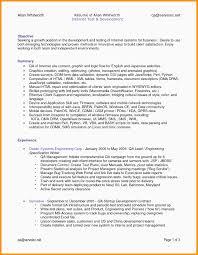 Qa Manual Tester Sample Resume Inspirational Sample Resume For Entry