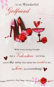 valentine s day cards for girlfriend. To My Wonderful Girlfriend Day Card Valentine Cards For Love Kates