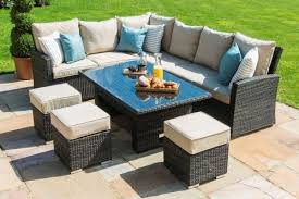 maze rattan lyon sofa dining set