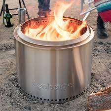 solo stove bonfire 19 1 2 inch round wood burning fire pit stainless steel ssbon bbqguys