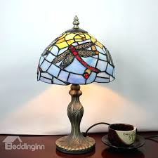 stained glass dragonfly patterns style pattern table lamp
