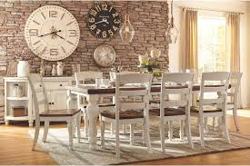 country style dining room furniture. Farmhouse Style Dining Room Table And Chairs With Rustic Chic Clocks On The Back Wall. Country Furniture